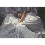 First Light - woman sleeping by figure artist Steve Hanks