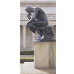 The Thinkers - boy and statue by artist Steve Hanks