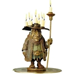 The Candleman original bronze by fantasy artist James Christensen