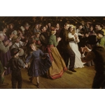 The First Dance, 1884 Americana - Wedding by artist Morgan Weistling