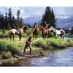 The River's Gift by western artist Martin Grelle