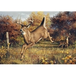 We'll Meet Again battling bucks by hunting artist Joe Hautman
