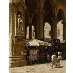 Mercato di Cuoio (leather market) by classical artist George Hallmark