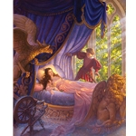 Sleeping Beauty (the fairy tale) by fantasy artist Scott Gustafson