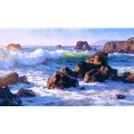 Sonoma Surf - California coast by artist June Carey