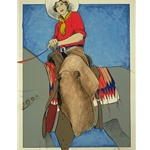 Postcard Cowgirl by western artist Donna Howell-Sickles