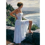 Scenic View - woman looking out to sea by figurative artist Steve Hanks