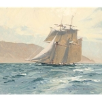 The Revenue Cutter C. W. Lawrence by maritime artist Christopher Blossom