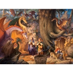 A Confabulation of Dragons by fantasy artist Scott Gustafson