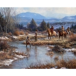 Trappers in the Wind Rivers by historical artist Martin Grelle
