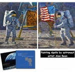 Painting Apollo: First Artist on Another World (Collector book & L.E. Canvas) by artist Alan Bean