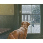 Observing Christmas - Golden Retriever by Robert Bateman