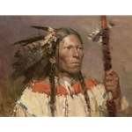 Fish Hawk - Portrait of an Indian Warrior by Z. S. Liang