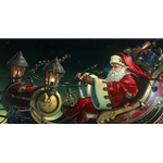 Father Christmas: The Sleigh Ride by holiday artist Dean Morrissey