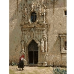 La Riena - Spanish Church by artist George Hallmark