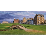 The Swilcan Bridge - 18th Hole of the Old Course, at St. Andrews Links by Linda Hartough
