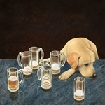what's that in dog beers - yellow lab humor by comedic artist Will Bullas