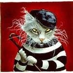 the cat burgler - felon by comedic artist Will Bullas