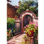 Garden of the Bells - California courtyard by floral artist June Carey