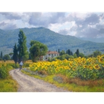 My Girasoli - Italian for sunflower by landscape artist June Carey