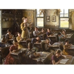 Country Schoolhouse - 1879 by Americana artist Morgan Weistling