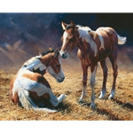 Cousins - two young foals by artist Bonnie Marris