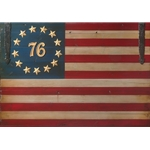 The Spirit of '76 Flag by barn door artist David Grant