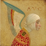 Angel With Epaulet by artist James Christensen