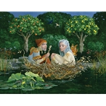 The Nest - newlyweds on the river of life by artist James Christensen