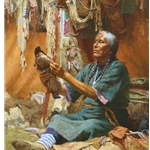 New Doll For My Granddaughter by western artist Howard Terpning