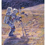 Some Tools of our Trade - astronaut on the lunar surface by Alan Bean