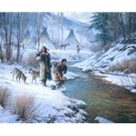 Days of the Coldmaker - Native Americans in the winter by artist Martin Grelle