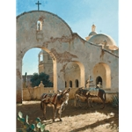 Shadow of San Xavier - Mission by George Hallmark