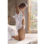Time Standing Still - young woman by Steve Hanks
