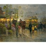 Showers Along the Trolley Line by G. Harvey