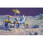 Lunar Grand Prix - moon buggy drag race by astronaut artist Alan Bean