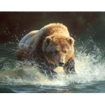 Tsunami - Grizzly Bear by wildlife artist Bonnie Marris