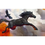 Pegasus - Leap of Faith with horse and raven by artist Craig Kosak