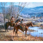Apsaalooke Sentinels - overlooking campground by Martin Grelle