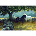 In the Field - Mare and Foal by Robert Bateman