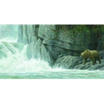 Fishing Hole - Grizzly Bear by Robert Bateman