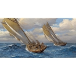 Captains Courageous by nautical artist  Andy Thomas available from Snow Goose Gallery