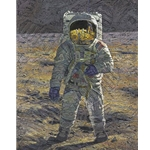 First Men: Edwin E. 'Buzz' Aldrin Astronaut by artist Alan Bean