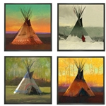 Saisons Suite of 4 - four tepees one for each season by R. Tom Gilleon