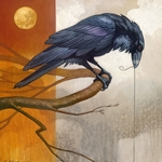Merlin and the Golden Moon - Raven by Craig Kosak