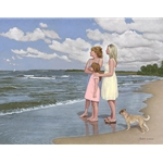 ~ The Gift - surviving cancer - Mother, daughter, granddaughter on beach by John Weiss