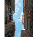 Afternoon Alley - turkey vulture by whimsy artist Cynthia Decker available at Snow Goose Gallery