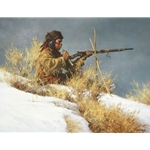 ~ Patient Provider - Indian brave hunting by Howard Terpning