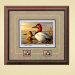 Federal Duck Stamp Print COLLECTOR'S EDITION ARTIST PROOF by Adam Grimm Canvasback Pair