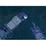 Our World at My Fingertips by astronaut artist Alan Bean